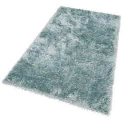 hoogpolig vloerkleed, »glossy 411«, merinos, rechthoekig, hoogte 70 mm, machinaal geweven blauw