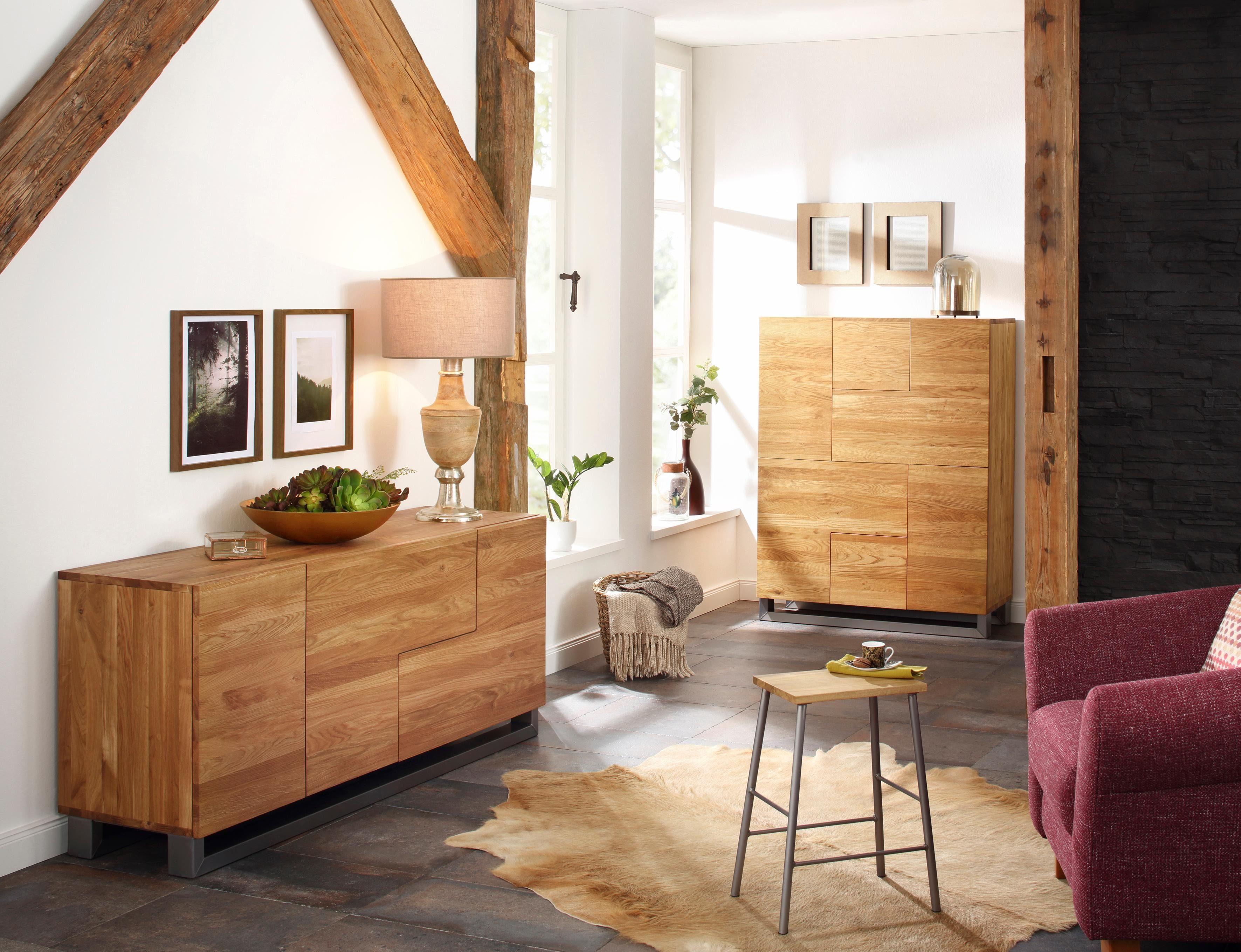 Stoel Metalen Frame : Premium collection by home affaire stoel moora« van massief eiken