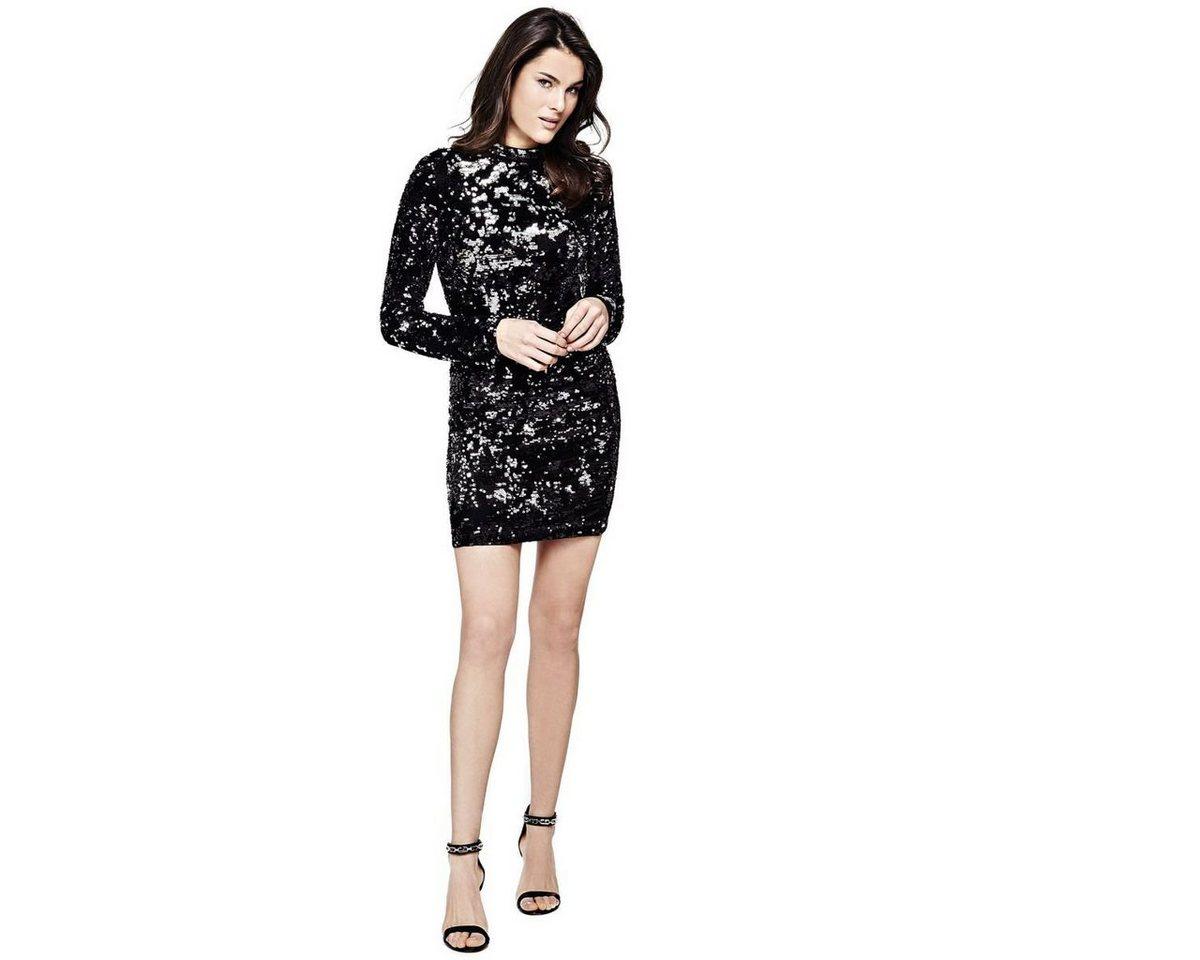 Guess jurk van pailletten zwart