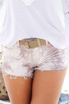 buffalo londen jeans-hotpants paars