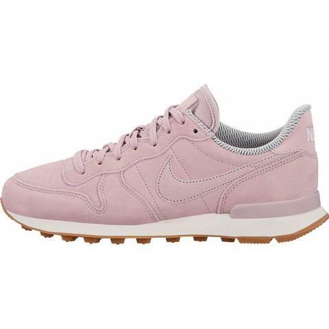 Nike Internationalist damessneaker grijs en roze