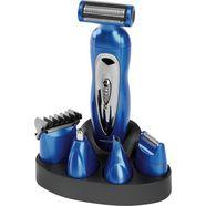 proficare lichaam- en bikinilijn-trimmer pc-bht 3015 multifunctionele tondeuse voor gezicht- en lichaamsharen (set) blauw