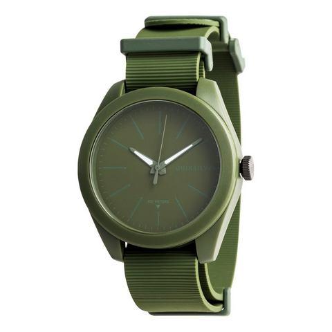 NU 15% KORTING: Quiksilver Analoog horloge Furtiv Nato Silicone