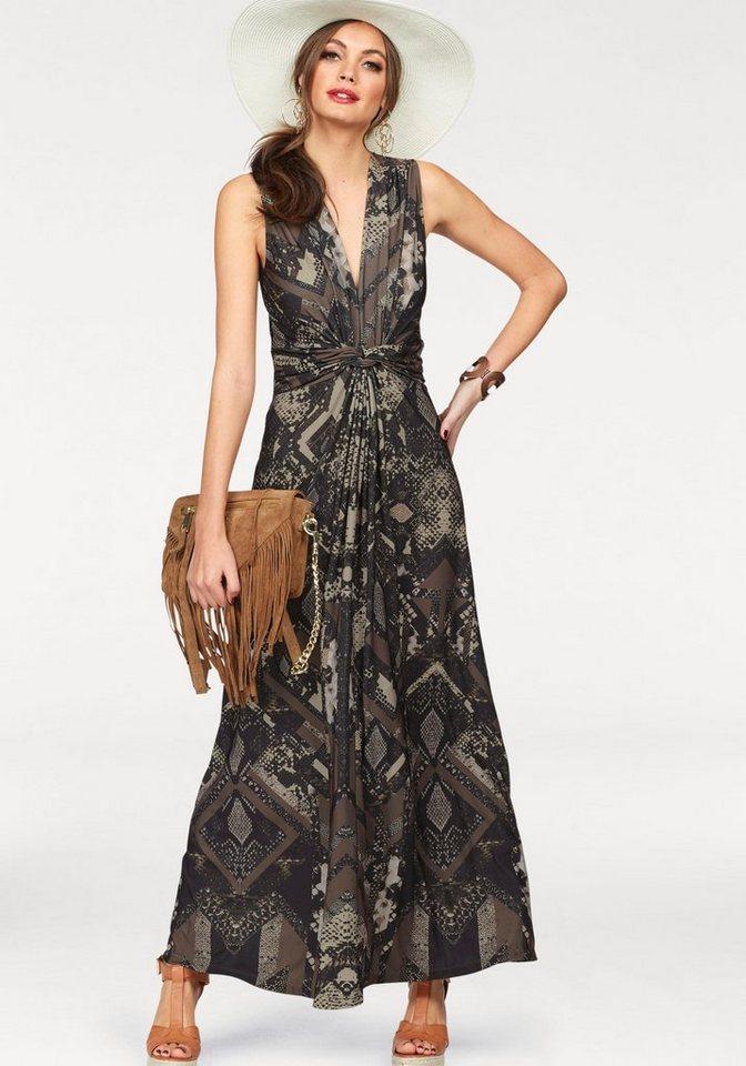 Melrose maxi-jurk bruin