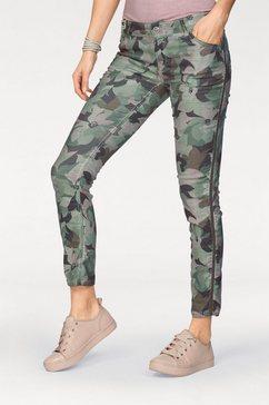 coccara skinny fit jeans »bella« groen