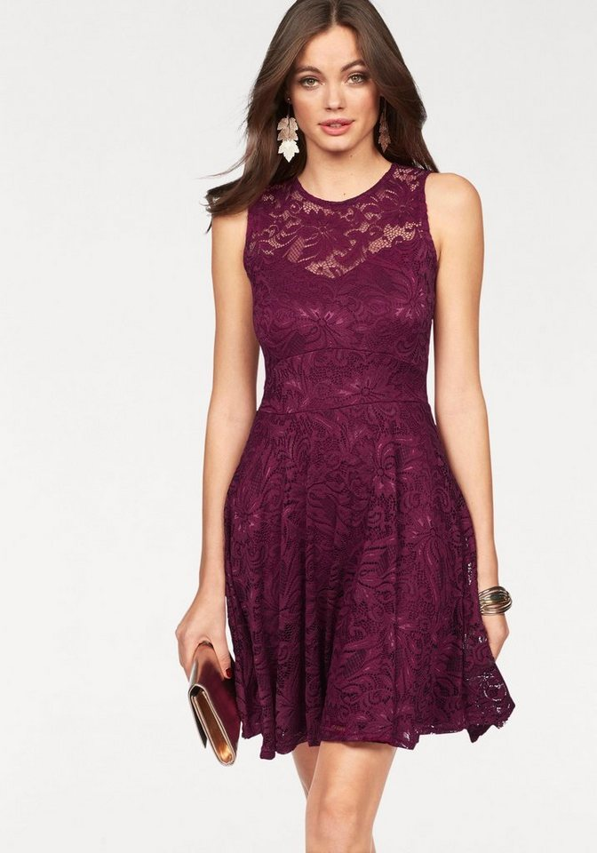 Melrose kanten jurk rood