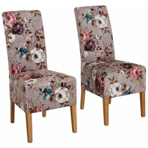 Home affaire set stoelen Rona met romantische bloemenprint