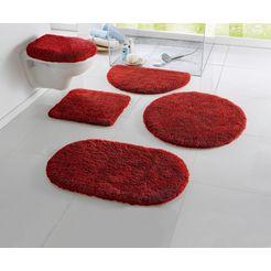 badmat »merida«, my home, hoogte 32 mm, met antislip-coating, geschikt voor vloerverwarming rood