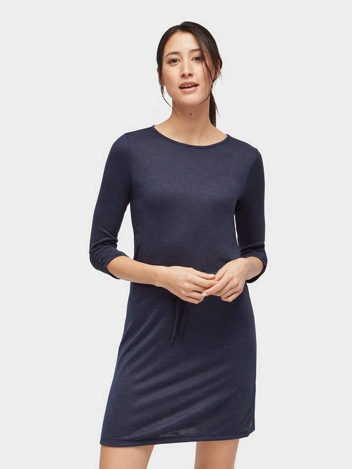 Tom Tailor jerseyjurk jurk met bindstrik in de taille blauw
