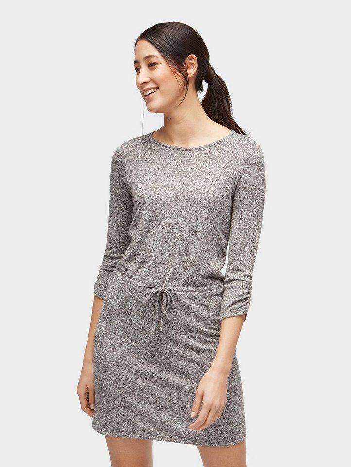 Tom Tailor jerseyjurk jurk met bindstrik in de taille grijs