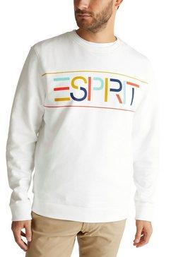esprit sweatshirt met grote logo-frontprint wit