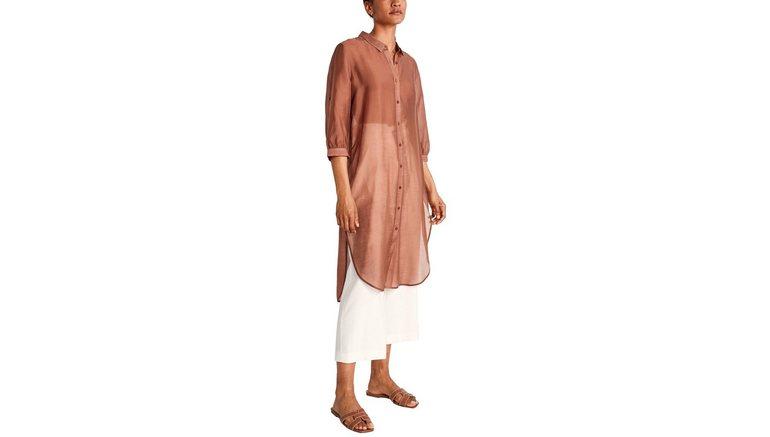 Comma lange blouse in semi-transparante optiek