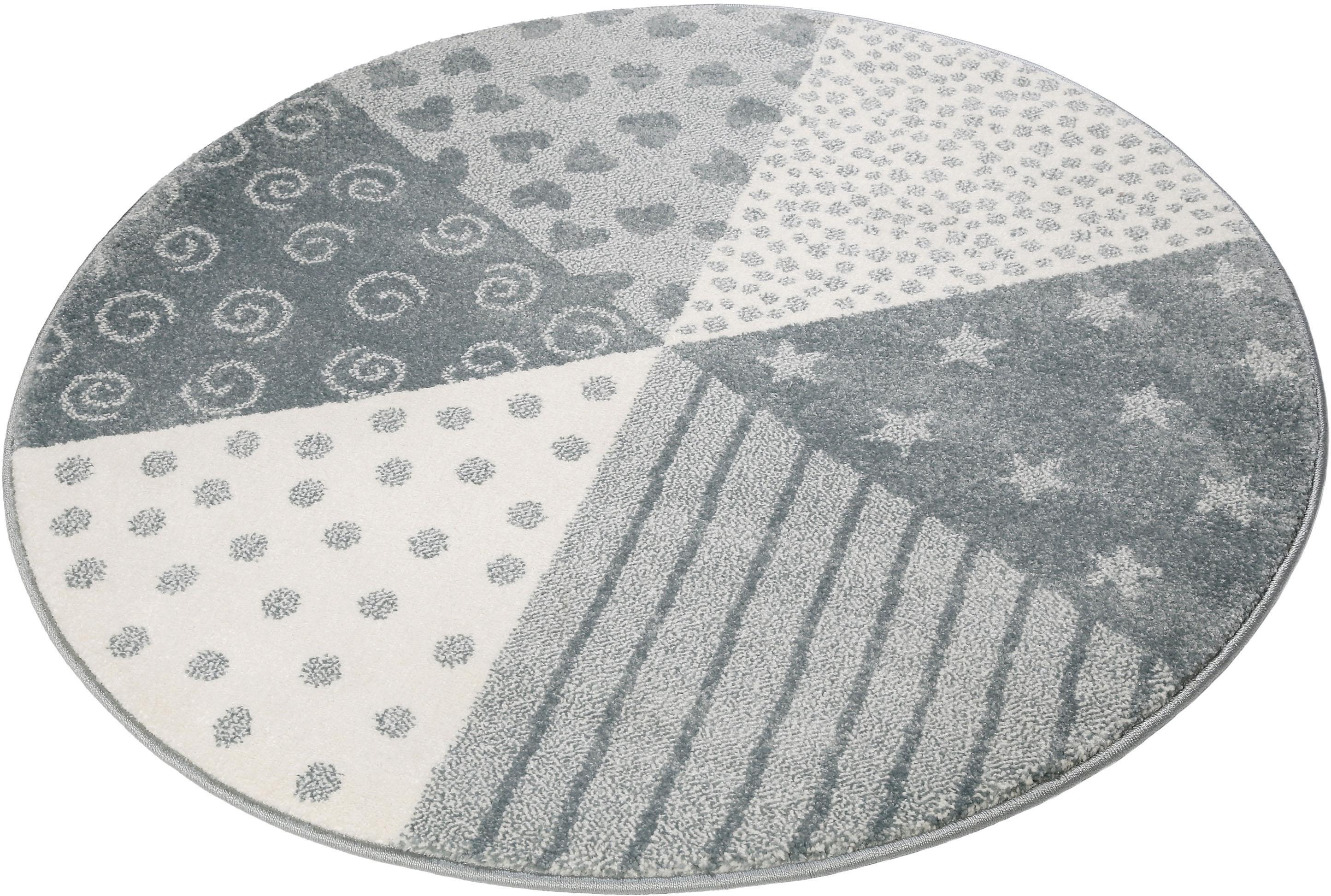 Sigikid Vloerkleed voor de kinderkamer, »Canon«, rond, hoogte 13 mm, machinaal geweven bij OTTO online kopen