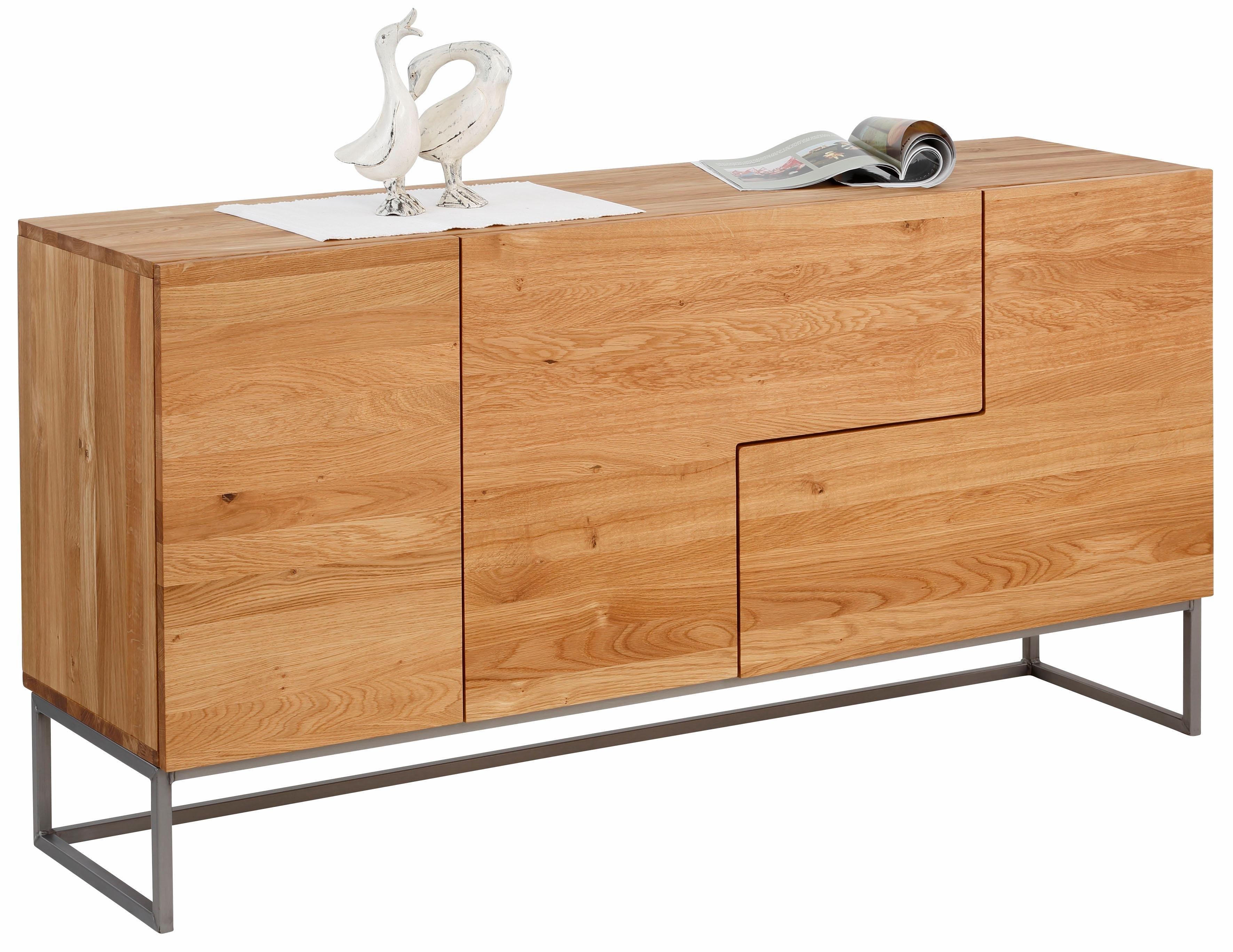 Premium collection by Home affaire Home affaire dressoir »Svear«, breedte 160 cm, van massief eiken - gratis ruilen op otto.nl