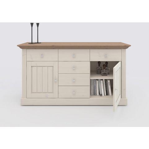 Home affaire dressoir Skanderborg, breedte 145 cm, met 5 laden en 2 deuren