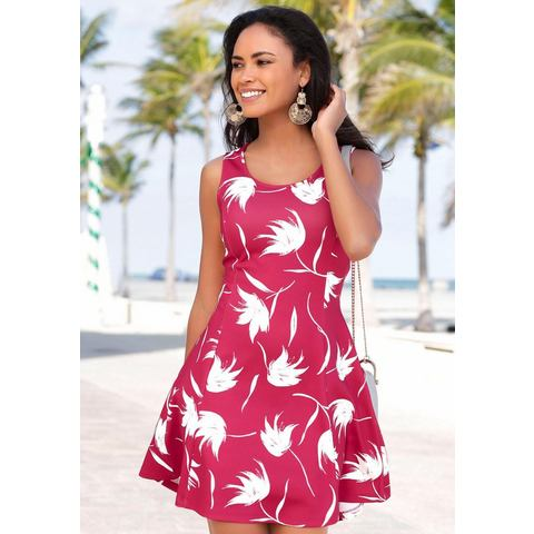 Lascana scuba-jurk rood