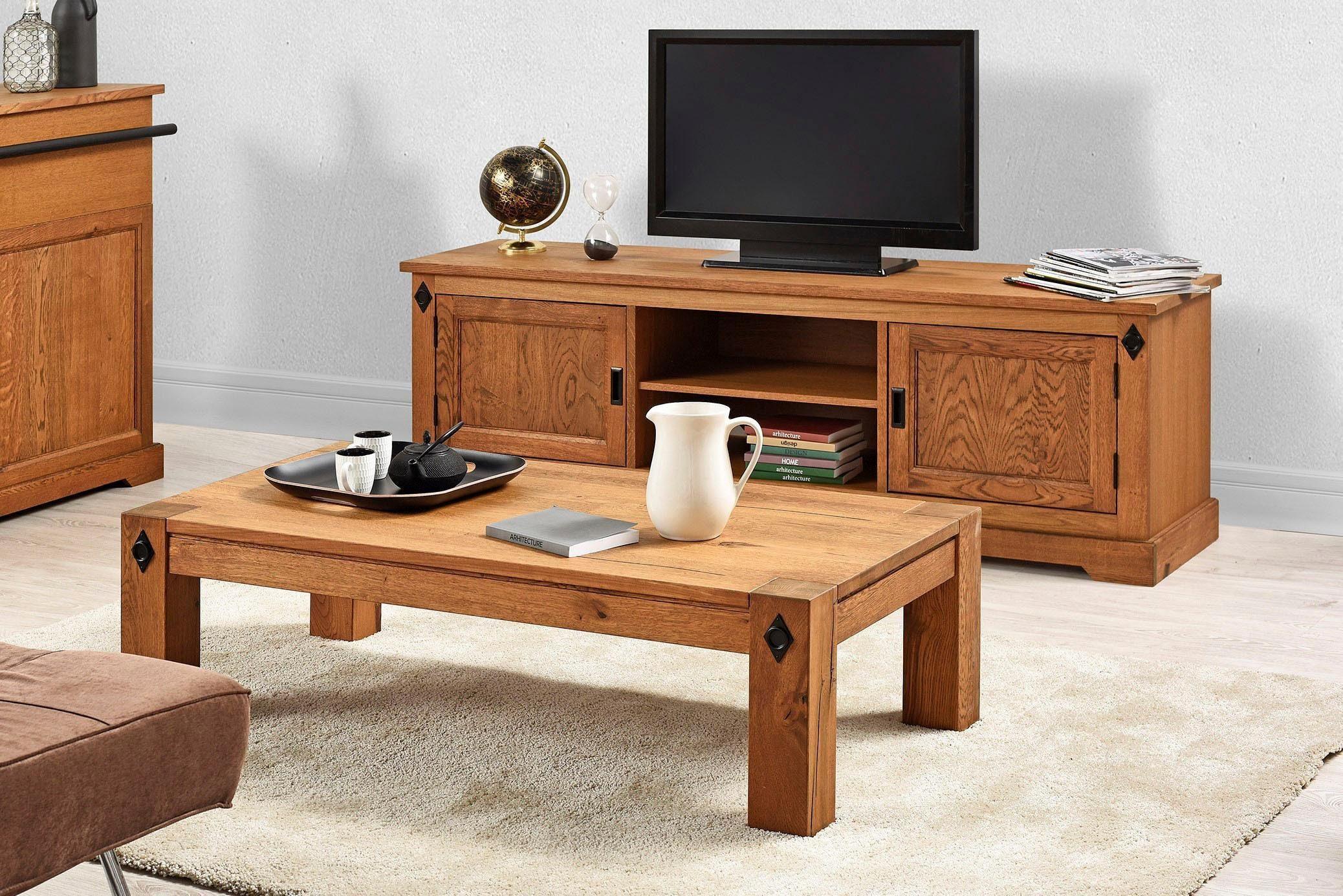 Eikenhout Tv Meubel : Premium by home affaire tv meubel edward« gedeeltelijk van