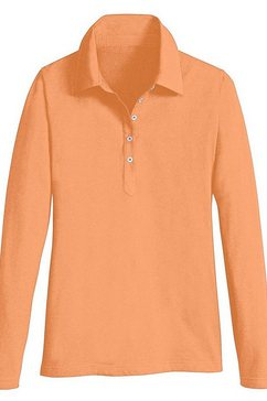 casual looks poloshirt van katoen oranje
