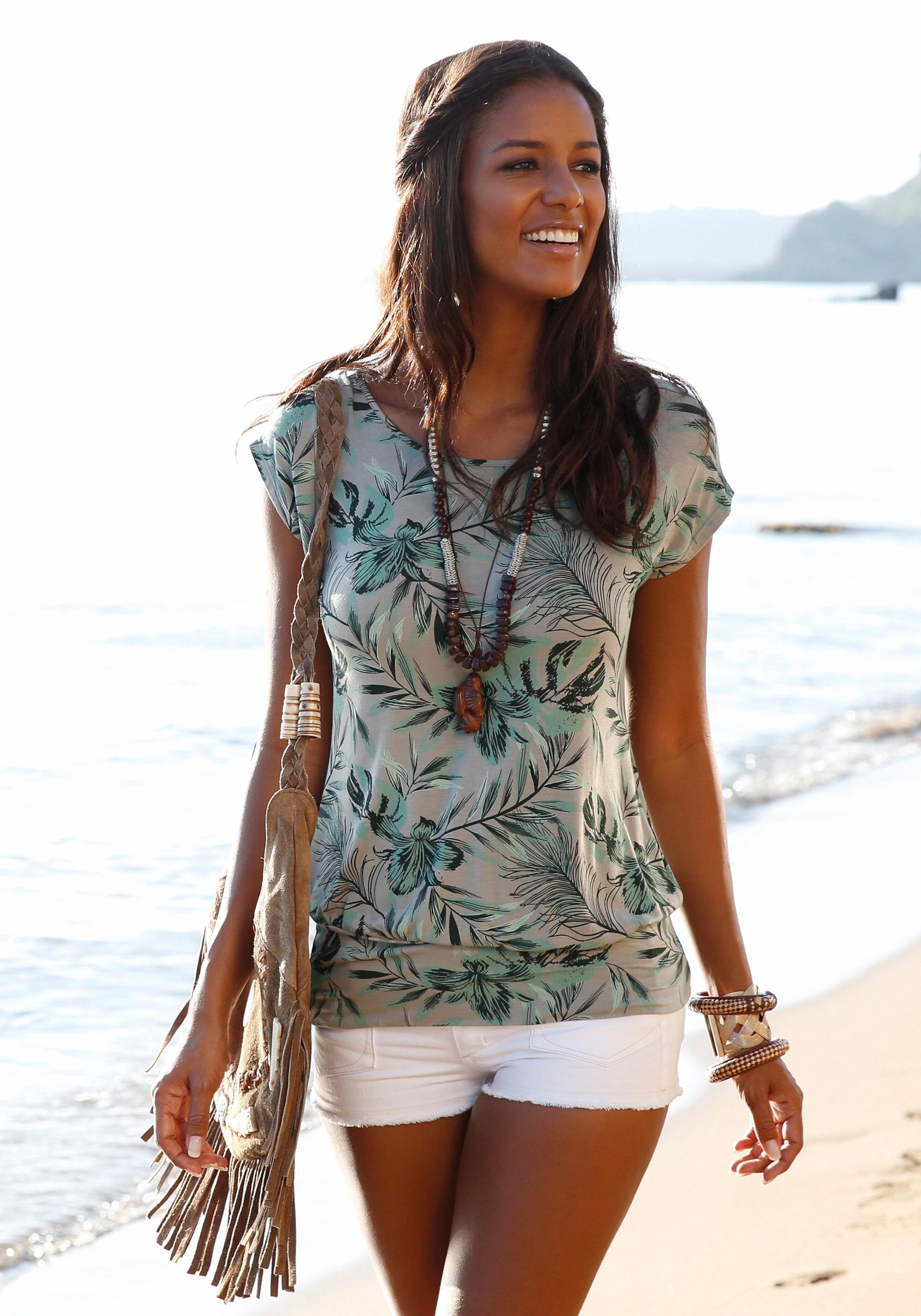 Lascana Lang shirt met brede tailleband online kopen op otto.nl