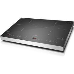 caso dubbele inductiekookplaat s-line 3500 54 cm breed zilver