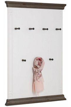 home affaire wandpaneel »vinales«, hoogte 122 cm, van massief grenen wit