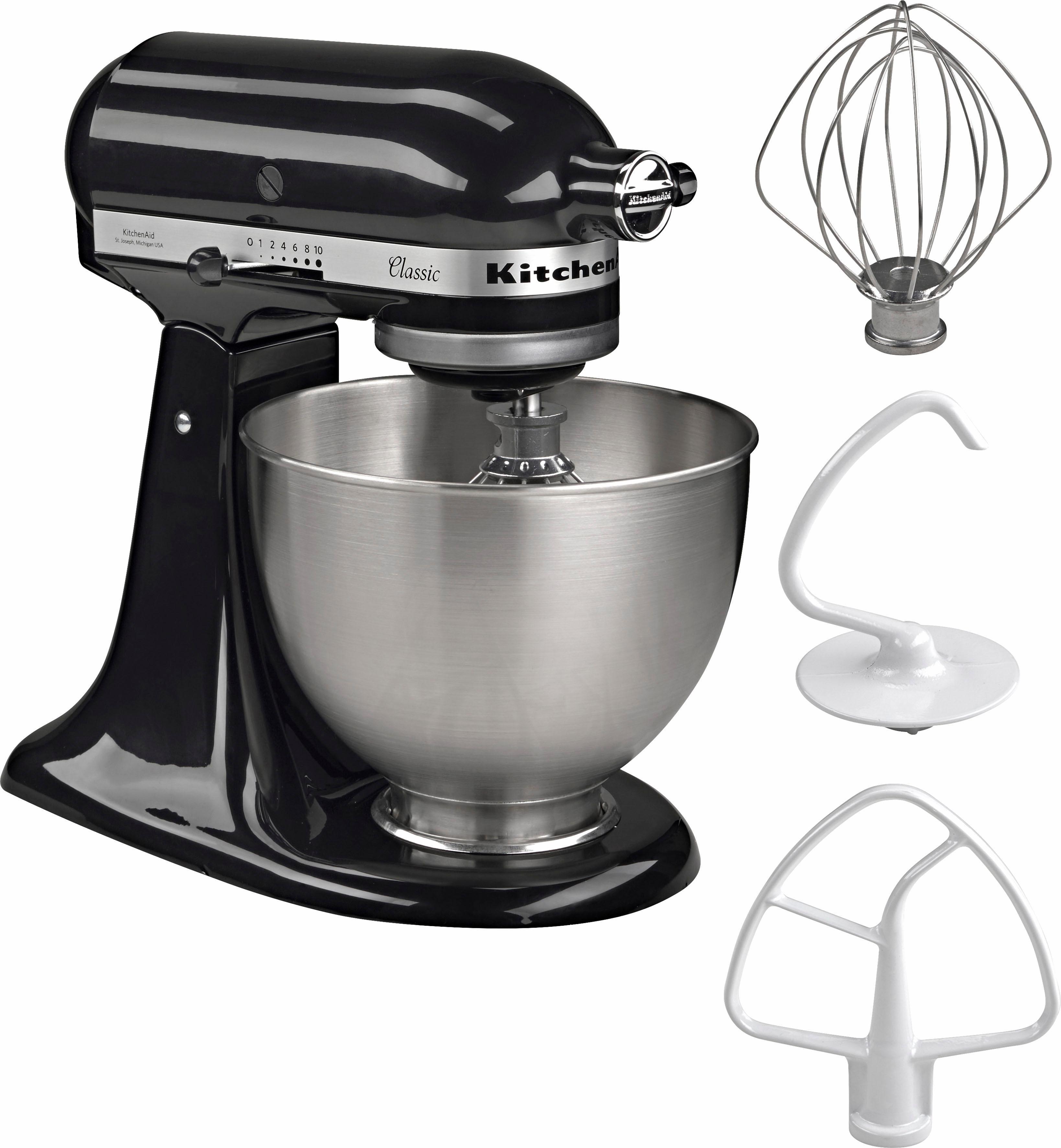 KitchenAid keukenmachine Classic 5K45SS EOB, 250 W, 4,28l-kom, incl. accessoires t.w.v. ca. € 112,- bij OTTO online kopen