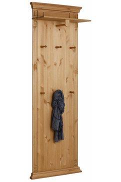home affaire wandpaneel »vinales«, hoogte 196 cm van massief grenen beige