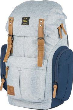 nitro rugzak met laptopvak voor laptop van 15 inch, »daypacker morning mist« grijs