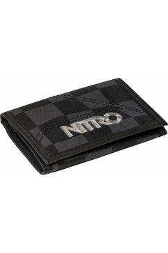 nitro portemonnee, »wallet black checker« zwart