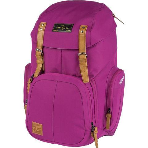 Nitro rugzak met laptopvak voor laptop van 17 inch, Weekender Grateful Pink