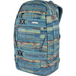 nitro schoolrugzak met laptopvak voor laptop van 15 inch, »aerial frequency blue« blauw
