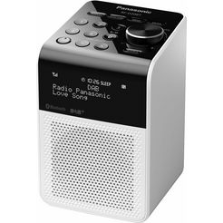 panasonic »rf-d20bt« radio (bluetooth, digitale radio (dab+), fm-tuner met rds, 3 w) wit
