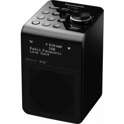 panasonic »rf-d20bt« radio (bluetooth, digitale radio (dab+), fm-tuner met rds, 3 w) zwart