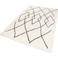 hoogpolig vloerkleed, »afella«, wecon home, rechthoekig, hoogte 50 mm, machinaal geweven beige