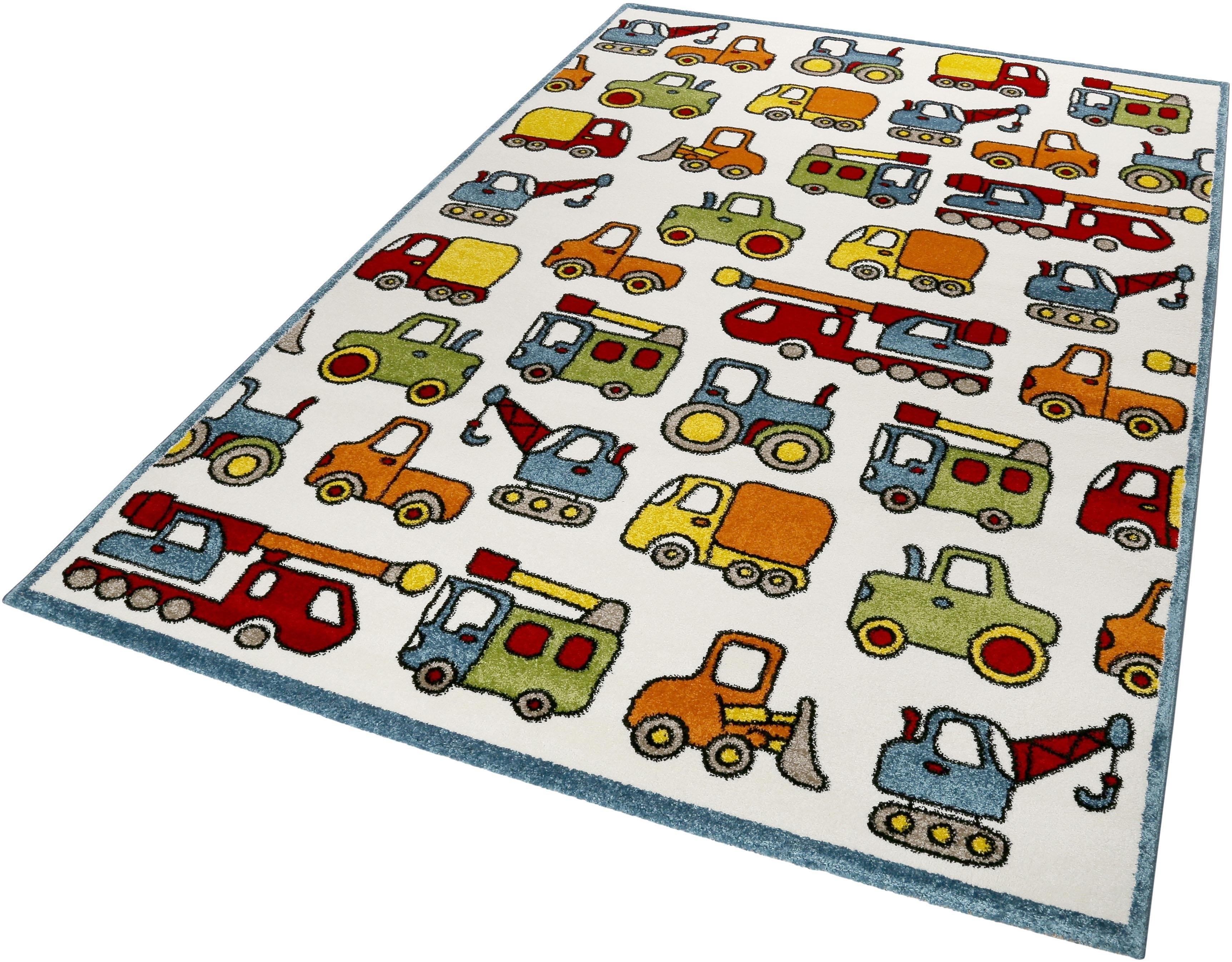 ESPRIT Vloerkleed voor de kinderkamer, »Vehicles«, rechthoekig, hoogte 13 mm, machinaal geweven in de webshop van OTTO kopen