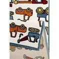 vloerkleed voor de kinderkamer, »vehicles«, esprit, rechthoekig, hoogte 13 mm, machinaal geweven multicolor