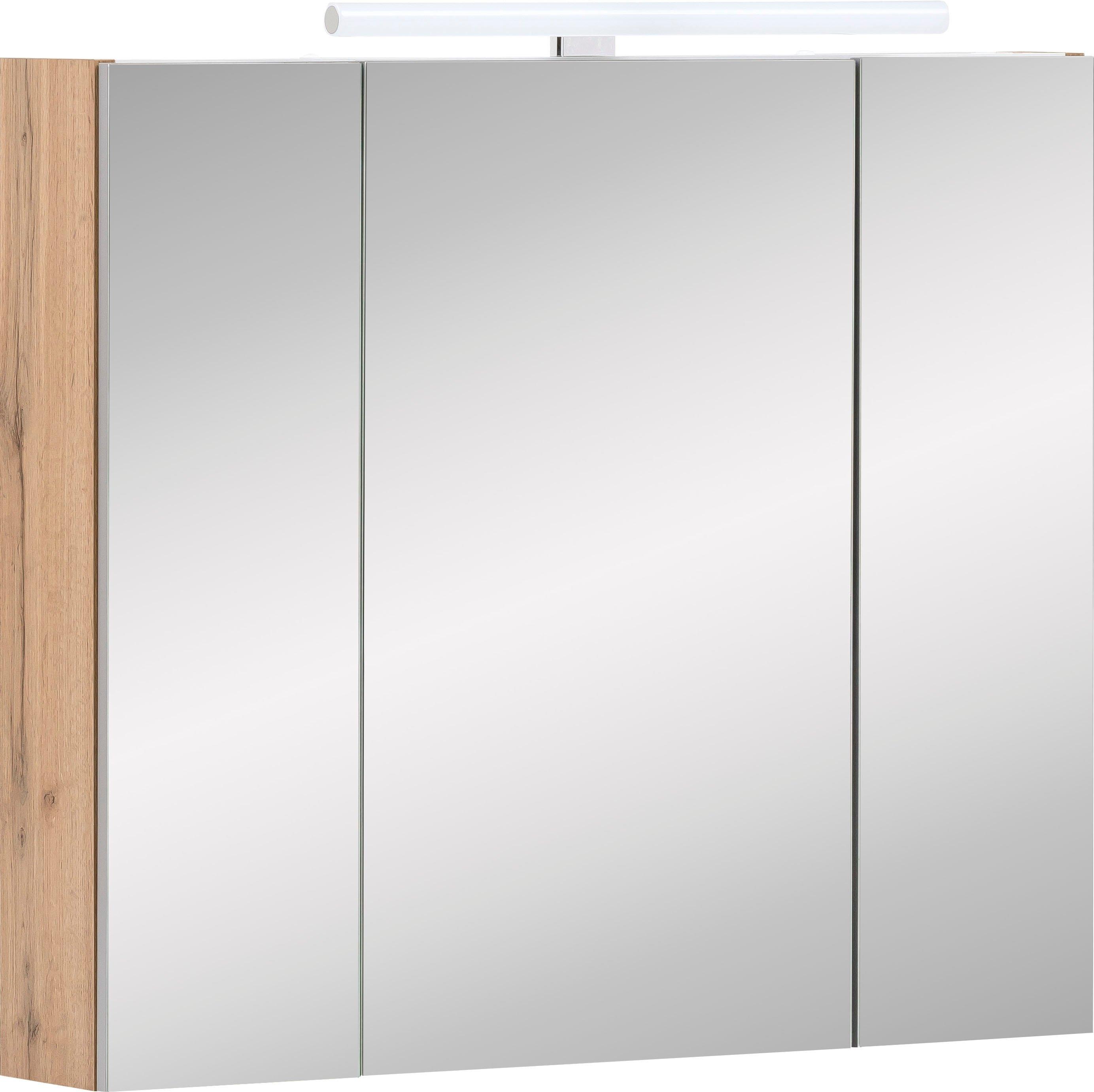 Op zoek naar een Schildmeyer spiegelkast Duo Breedte 80 cm, 3-deurs, ledverlichting, schakelaar-/stekkerdoos, glasplateaus, soft-closetechniek, Made in Germany? Koop online bij OTTO