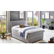 atlantic home collection boxspring met bedkist en topmatras grijs