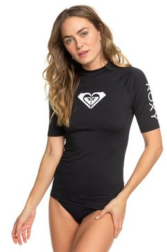 roxy rash vest met korte mouwen en upf 50 »whole hearted« zwart