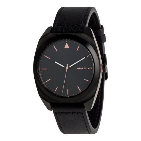 NU 15% KORTING: Quiksilver Analoog horloge The PM Leather
