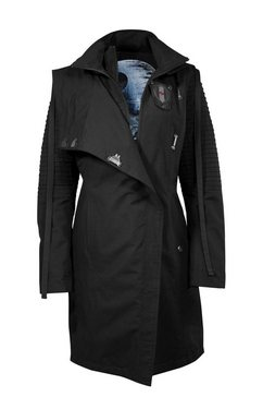 musterbrand trenchcoat »sith lady limited edition« zwart