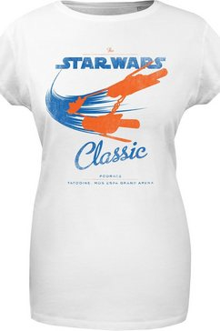 musterbrand t-shirt podrace classic star wars collectie wit