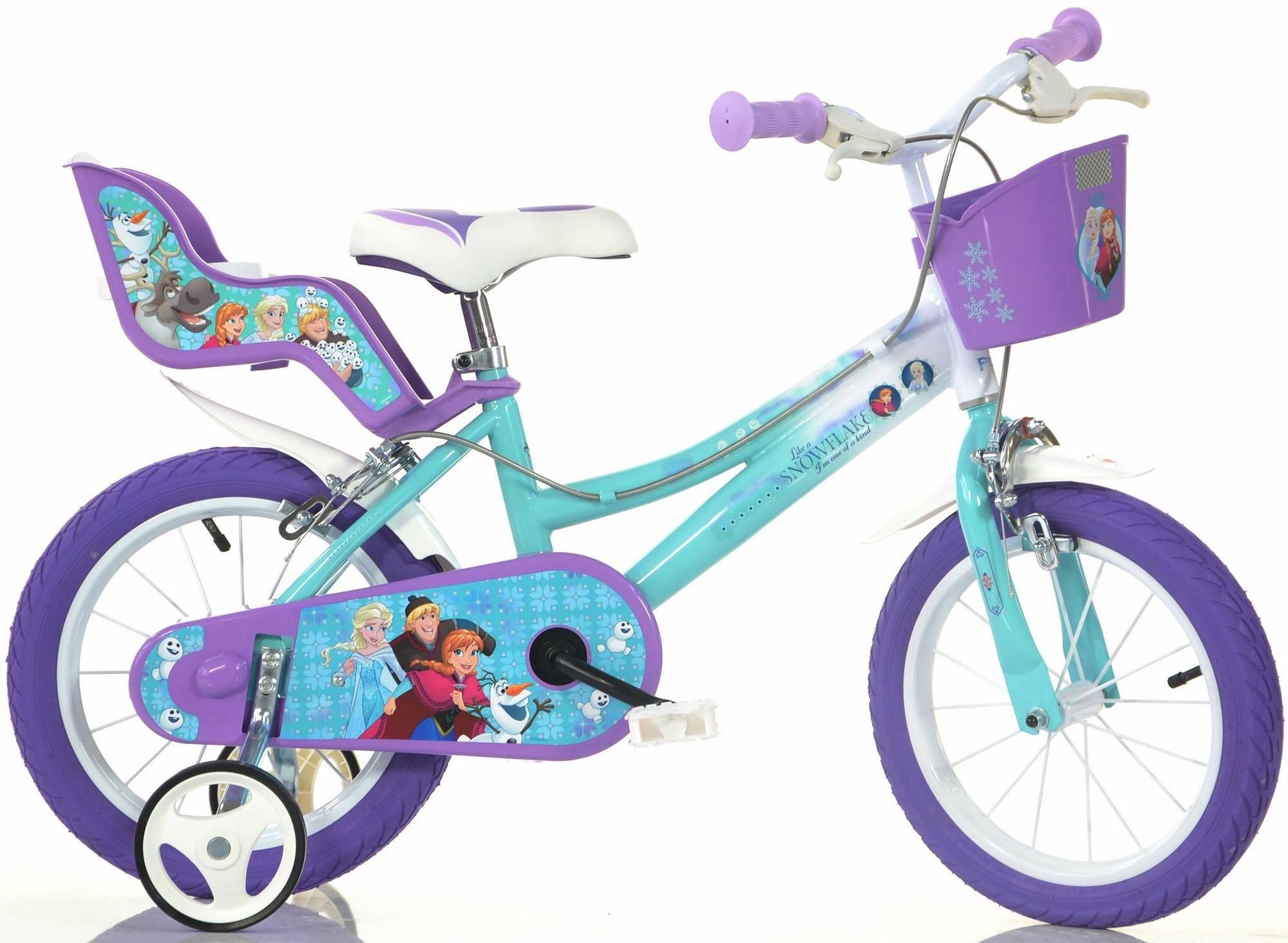 Dino kinderfiets voor meisje, 14 inch, 1 versnelling, »Frozen« - verschillende betaalmethodes