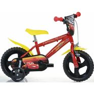 dino kinderfiets, 12 inch, 1 versnelling, »cars« rood