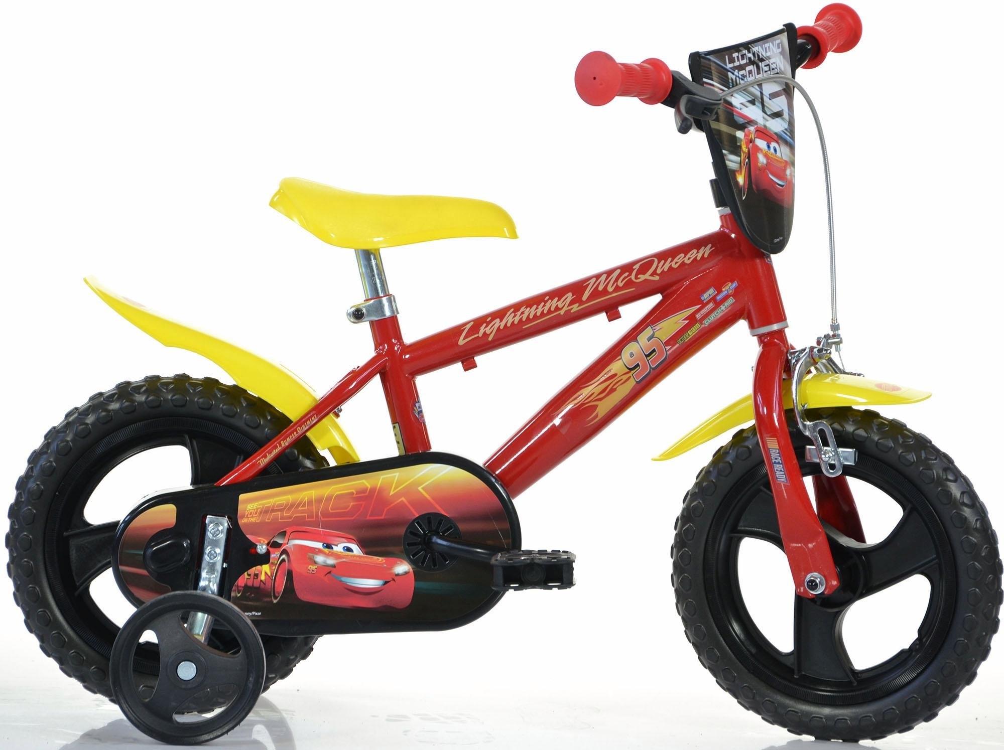 Dino kinderfiets, 12 inch, 1 versnelling, »Cars« nu online kopen bij OTTO