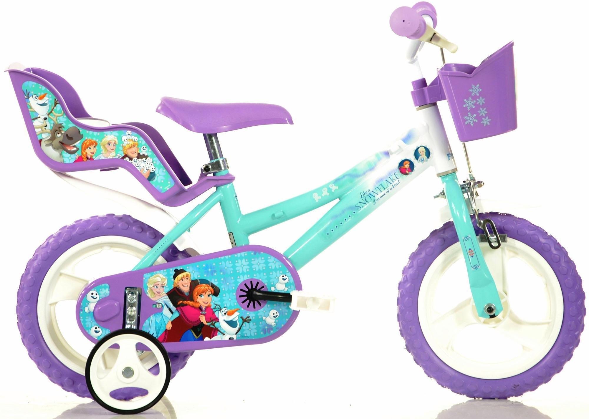Dino kinderfiets voor meisje, 12 inch, 1 versnelling, »Frozen« voordelig en veilig online kopen