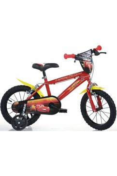 dino kinderfiets, 14 inch, 1 versnelling, »cars« rood