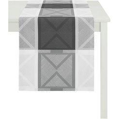 apelt tafelloper verona, loft style, jacquard (1 stuk) zwart