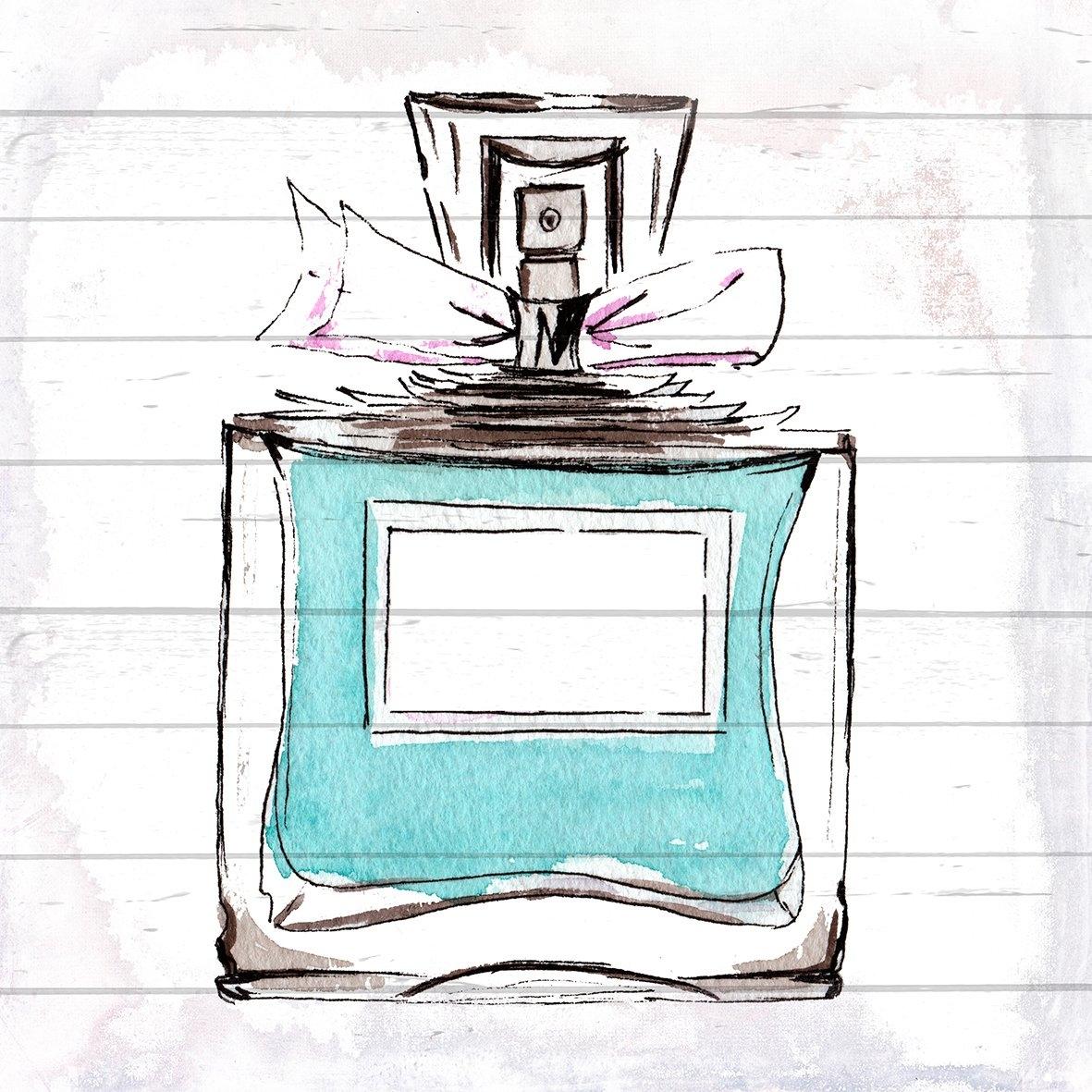 queence Artprint op hout »blauw Perfume«, 40x40 cm echt hout nu online kopen bij OTTO