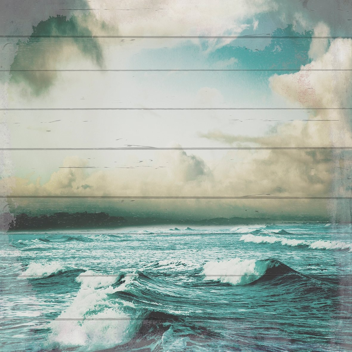Op zoek naar een Queence Artprint op hout »Storm op zee«, 40x40 cm echt hout? Koop online bij OTTO